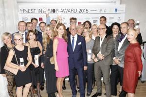 Der FINEST INTERIOR AWARD 2015 wurde verliehen. Die Sieger strahlen. © Birgit Bielefeld, Frankfurt