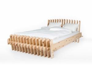 Ob Doppel- oder Single-Variante: Das neuartige Bett vereint Design, Ergonomie und Energie. © FLUSSBETT