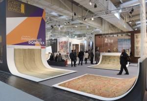 """Die edlen Teppichkreationen standen mit """"Innovations@DOMOTEX"""" in speziellem Fokus. © Deutsche Messe"""