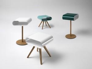 Mit L012 und LH12 hat müller möbelfabrikation zwei Tische am Start, die – ob solo oder in der Gruppe – mit ihrer trendigen Coolness punkten. © müller möbelfabrikation