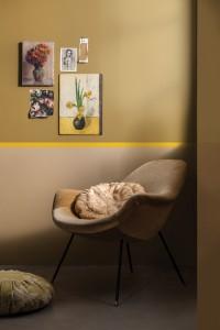 Sanft & Stark: Goldocker setzt leuchtende Akzente. © Dulux