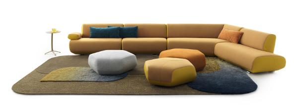 Das Sofasystem GUADALUPE besticht mit Modularität und Vielseitigkeit. © Leolux