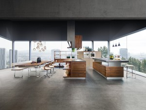 Auf der EuroCucina zeigte TEAM 7 die Küche K7. © Foto: TEAM 7 / Österr. Möbelindustrie