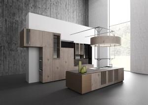 Die Küchen-Design-Studie beeindruckt mit der Kombination von Gegensätzlichem und raffiniertem Look. © ALNO
