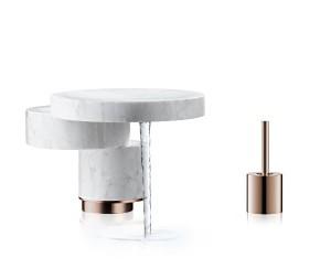 """Duett: Jean-Marie Massauds """"Mimicry"""" zeigt ein wasserspendendes Objekt in totaler Harmonie mit der Innenarchitektur. © Uli Maier for Axor / Hansgrohe SE"""