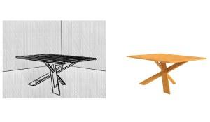 Aktuelles Top-Projekt von Christian Lutz ist ein Tisch – erneut aus Eiche und mit einer besonderen Verbindung. © Christian Lutz