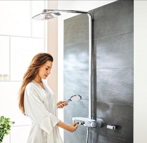 Ein Highlight für 3D-Duschgenuss ist GROHE Rainshower® SmartControl. © GROHE