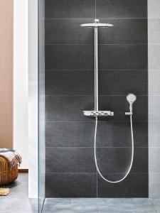 Das neue Duschsystem ist eine funktional-formschöne All-in-One-Lösung. © GROHE