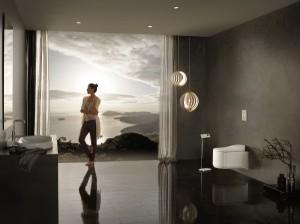 Innovative Funktionen und modernes Design zeichnen GROHE Sensia® Arena Dusch-WC aus. © GROHE