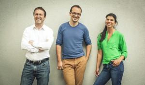Starkes, kreatives Team: Gründer Alois Hechinger und Dan Filip Badstuber sowie Designerin Christine Hechinger. © Alois Hechinger