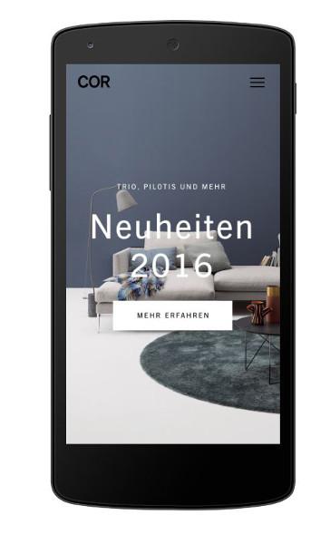 Am Schirm: Inspirationen und Informationen liefert die neue Homepage im Web und auf mobilen Endgeräten. © COR