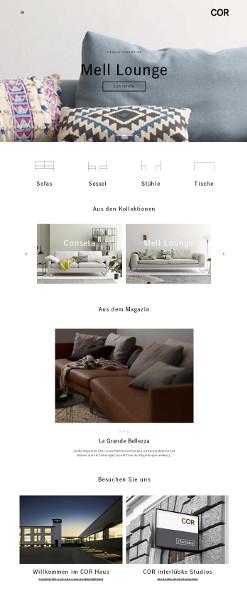 Stark: COR zeigt innovativ, emotional und medial wie auch international im Objektgeschäft auf. © COR