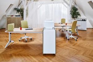 """""""unit"""" von Neudoerfler vereint nun flexible Möbel mit Naturmaterialien. © Marcel Billaudet"""
