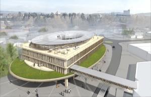 Starker Entwurf: So soll die neue TEAM 7 Welt in Ried einmal aussehen. Quelle: Didier Ghislain