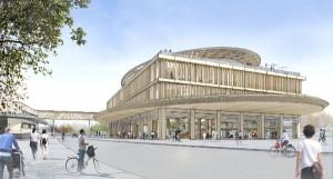 Erlebnis-Welt: Auf vier Geschossen spiegelt das neue Gebäude die TEAM 7-DNA wider. Quelle: Didier Ghislain