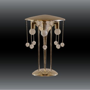 Leuchtende Schmuckstücke hat WOKA Lamps am Start, u.a. eine Tischleuchte nach den Entwürfen von Josef Hoffmann. © WOKA