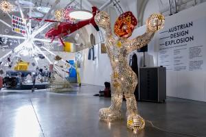 """Das Ausstellungsdesign macht Design """"made in Austria"""" mit allen Sinnen erlebbar."""