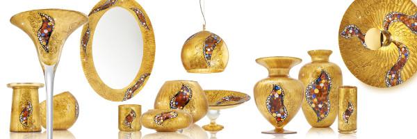 Einen Hauch Jugendstil versprüht das handgemalte, vergoldete oder versilberte KOLARZ-Dekor KISS. © KOLARZ