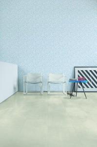 "Cooles Boden-Design trifft heißen ""Memphis"", Stil trifft Style mit Quick-Step. © Quick-Step/Unilin"