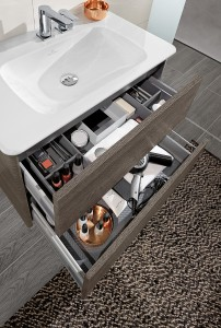 Die cleveren Möbel eröffnen viel Stauraum. © Villeroy & Boch
