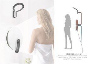 """Das von der Sonne inspirierte Duschkonzept """"Lumen"""" von Rik Oudenhoven (Schweden) sorgt für gesundes Duschen. © iF"""