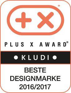 """KLUDI ist die """"Beste Designmarke 2016/2017"""". © KLUDI"""