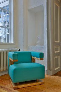 Individuell konfigurierbar kommt die Sessel-Ikone daher. © Heissingsart