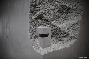 dade-design.com produzierte die außergewöhnlichen Betonkuben, die Details realisierter Projekte zeigen. © Marte.Marte