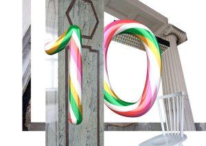 """Süßes zum Jubiläum gibt's auch visuell wie mit der Kampagne mitsamt markanter """"10"""". © Markus Guschelbauer/ Bueronardin"""