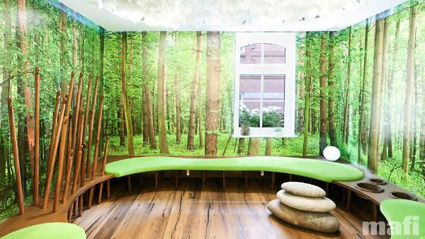 mafi sorgt mit seinem Naturholzboden in einer Arztpraxis für Wohlfühlatmosphäre. © mafi