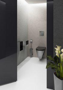 Perfekt abgestimmt: Die EXOS.-Produkte ermöglichen auch im WC einen harmonischen Gesamteindruck. © Franke GmbH