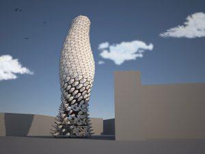 """Znaor kreierte mit """"Airshade"""" eine innovative Fassadenverschattung, die keine externe Energiezufuhr benötigt. © Dyson"""