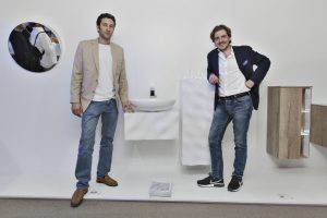 Designer Philipp Aduatz und Klomfar-Chef Martin Klomfar. © Maxime Galati Fourcade und Valentine Riboli