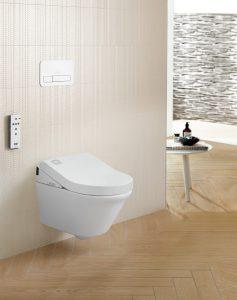 Formschön, effizient und hygienisch erweist sich ViClean U+ als revolutionäre Innovation. © Villeroy & Boch