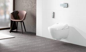 Gediegen und modern, sorgen die ViClean Dusch-WCs für maximalen Komfort bei minimalem Wasserverbrauch. © Villeroy & Boch