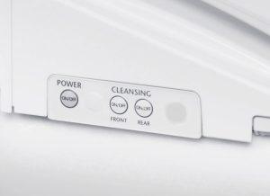 Bitte drücken! Die ViClean Dusch-WCs sorgen einfach für Reinigung, Pflege und Hygiene. © Villeroy & Boch