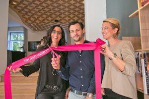 Die mafi-Inhaberfamilie - Heidrun Zerbs, Florian Fillafer und Christiane Lindner (v.l.) – bei der Eröffnung der neuen Location. © mafi