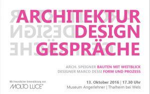 """Let's talk: Die """"Architektur Design Gespräche"""" locken am 13. Oktober nach OÖ. © MHC"""