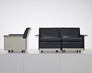 Legendär wie seine zehn Thesen zu gutem Design sind Rams Kreationen wie das Sesselprogramm 620 (RZ 62). © Foto: Christoph Sagel/ © APPEL DESIGN GALLERY, Berlin