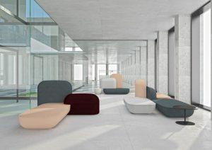 """Besondere Designmöbel treten mit der imm cologne ins Spotlight. Wie das Polstersystem """"okome"""", designed by Nendo für Alias. © Alias"""