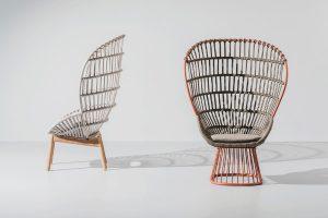 """Revival & Innovation: Für """"Cala"""" von Kettal orientierte sich Doshi Levien am ikonischen Rattan-Sessel """"Emmanuelle"""". © Kettal"""