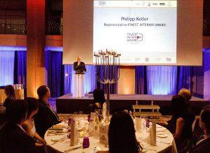 Bei einer glanzvollen Veranstaltung im WALDORF ASTORIA Berlin erhielten die Preisträger die Auszeichnung. © FINEST SPIRIT UG/FINEST INTERIOR AWARD