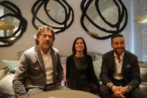 Giovanni Gervasoni, Claudia Störck und Andrea Pittarelli begrüßten und führten beim Opening durch die neue Top-Location. © Casa del Design