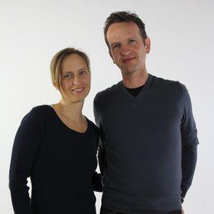 Kreatives Duo: Heike und Harald Guggenbichler. © guggenbichlerdesign