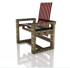 Holzloft kreiert aus altem Holz mit frischen Design-Ideen moderne Stühle. © Holzloft